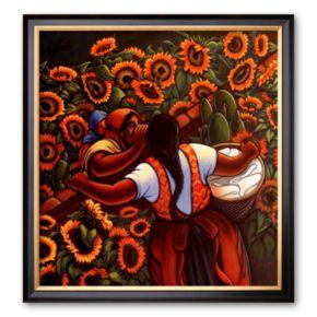 Art.com Las Comadres Framed Art Print by Simon Silva
