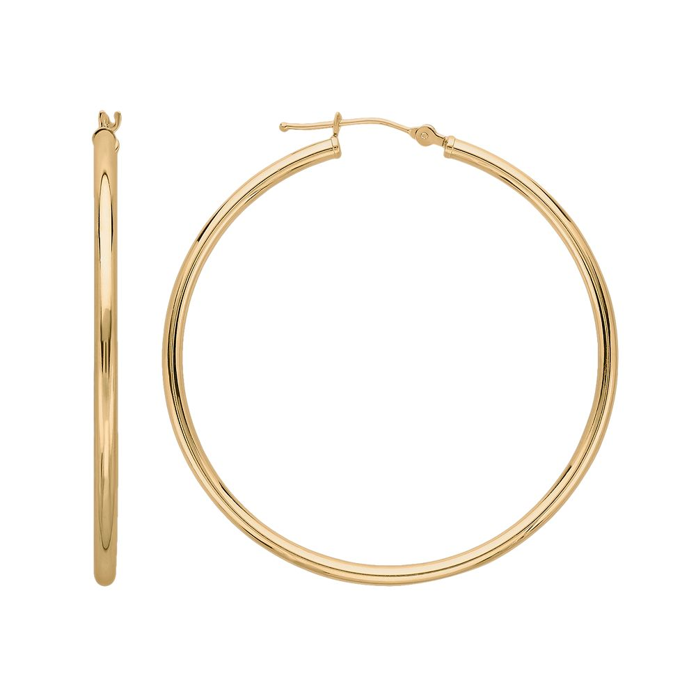 Everlasting Gold 10k Gold Hoop Earrings