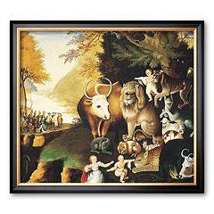 Art.com 'Peaceable Kingdom' Framed Art Print by Edward Hicks