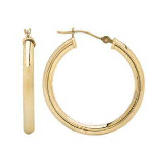 Everlasting Gold 10k Gold Hoop Earrings