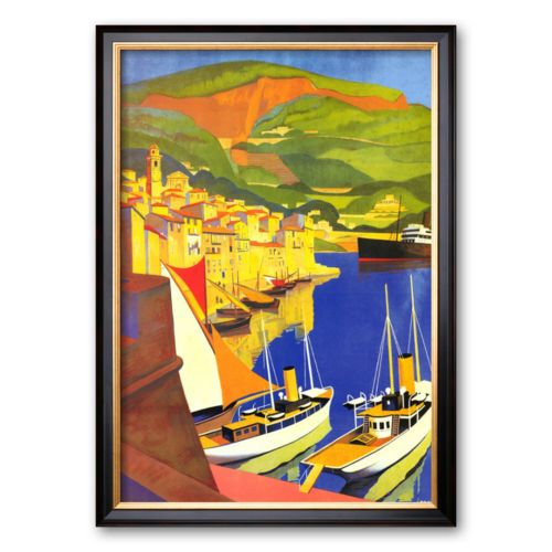 Art.com Villefranche Framed Art Print by Roger Broders