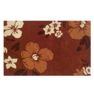 Linon Trio with a Twist Floral Rug - 8' x 10'