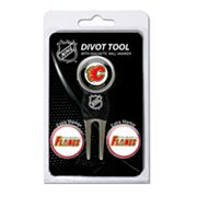 Team Golf Calgary Flames 4 pc Divot Tool & Ball Marker Set