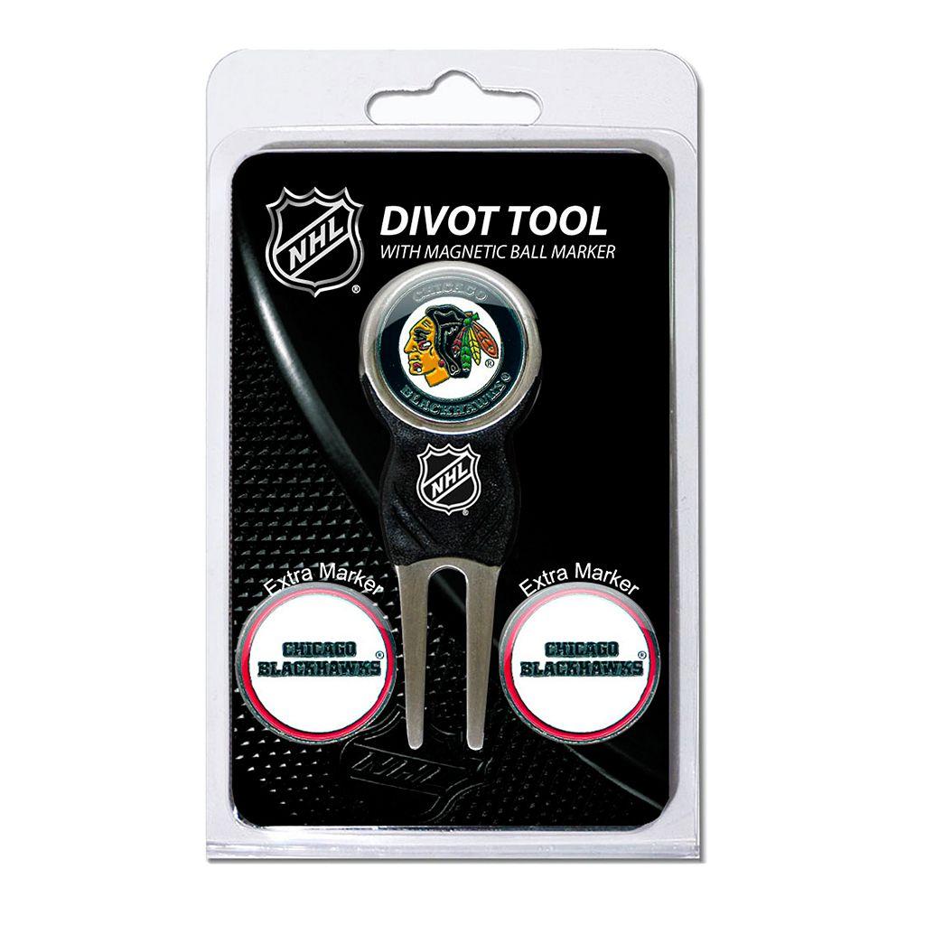 Team Golf Chicago Blackhawks 4-pc. Divot Tool & Ball Marker Set