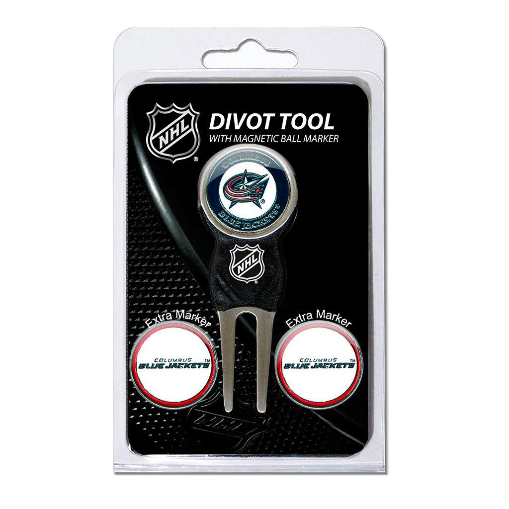Team Golf Columbus Blue Jackets 4-pc. Divot Tool & Ball Marker Set