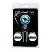 Team Golf San Jose Sharks 4 pc Divot Tool & Ball Marker Set