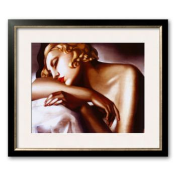 Art.com La Dormeuse Framed Art Print by Tamara de Lempicka