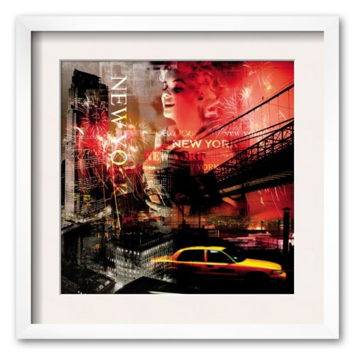 Art.com New York Firewoks Framed Art Print
