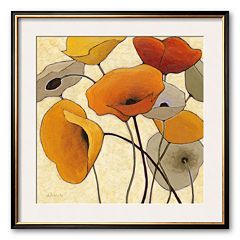 Art.com 'Pumpkin Poppies II' Framed Art Print by Shirley Novak