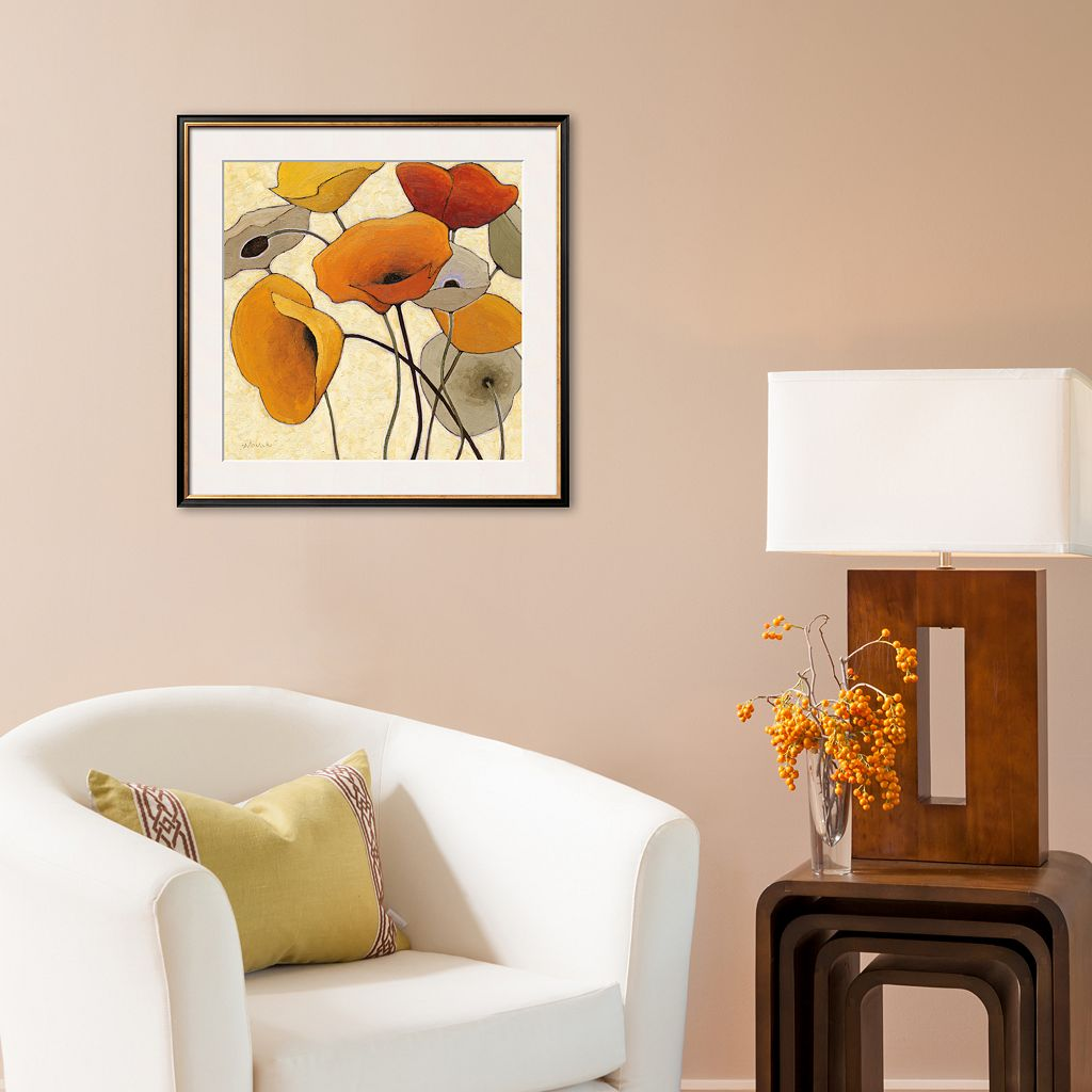 Art.com Pumpkin Poppies II Framed Art Print by Shirley Novak