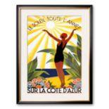 "Art.com ""Soleil Toute Lannee"" Framed Art Print by Roger Broders"