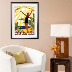 Art.com Soleil Toute Lannee Framed Art Print by Roger Broders