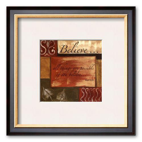 Art.com Words to Live By: Believe Framed Art Print by Debbie DeWitt