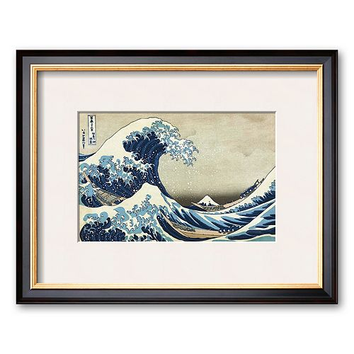 Art.com The Great Wave at Kanagawa Framed Art Print by Katsushika Hokusai