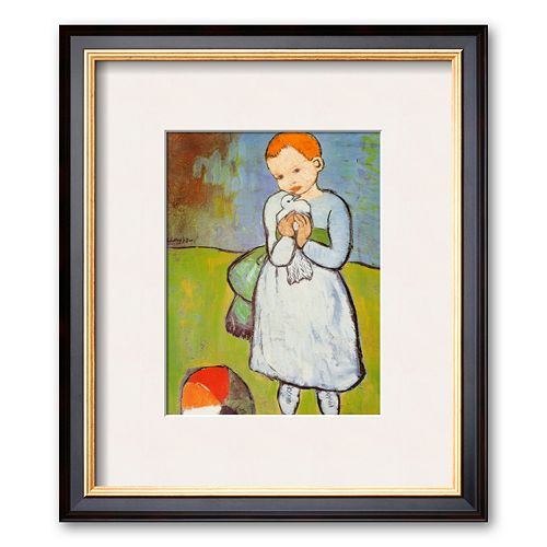 Art.com Child with a Dove, c.1901 Framed Art Print by Pablo Picasso