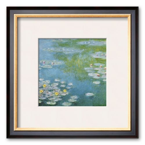 Art.com Nympheas at Giverny Framed Art Print by Claude Monet
