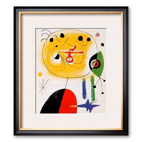 Art.com Et Fixe Les Cheveux d'une Etoile Framed Art Print by Joan Miro