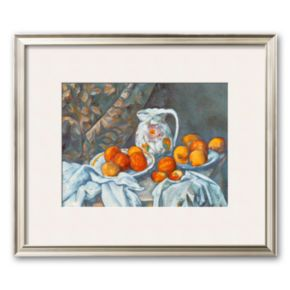 Art.com Still Life with Tablecloth Framed Art Print by Paul Cezanne