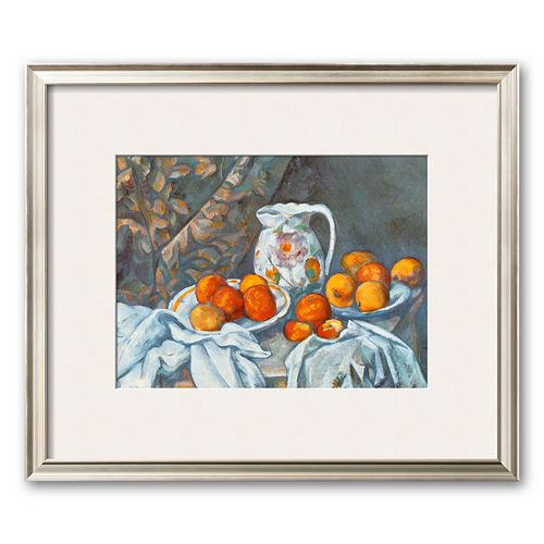 "Art.com ""Still Life with Tablecloth"" Framed Art Print by Paul Cezanne"