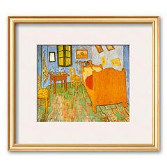 Art.com 'The Bedroom at Arles, c.1887' Gold Framed Art Print by Vincent van Gogh