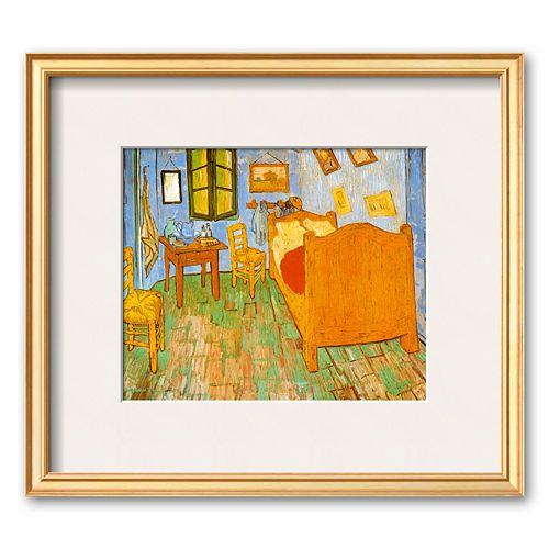 "Art.com ""The Bedroom at Arles, c.1887"" Gold Framed Art Print by Vincent van Gogh"