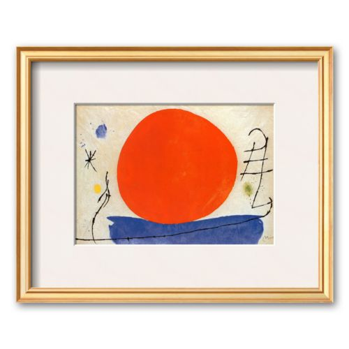 Art.com The Red Sun Framed Art Print by Joan Miro