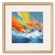 """Art.com """"Jeu de voiles"""" Framed Art Print by Max Laigneau"""