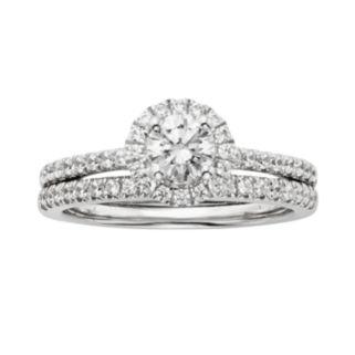 IGL Certified Diamond Engagement Ring Set in 14k White Gold (1 ct. T.W.)