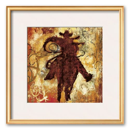 Art.com Roping Framed Art Print by Guy Williams