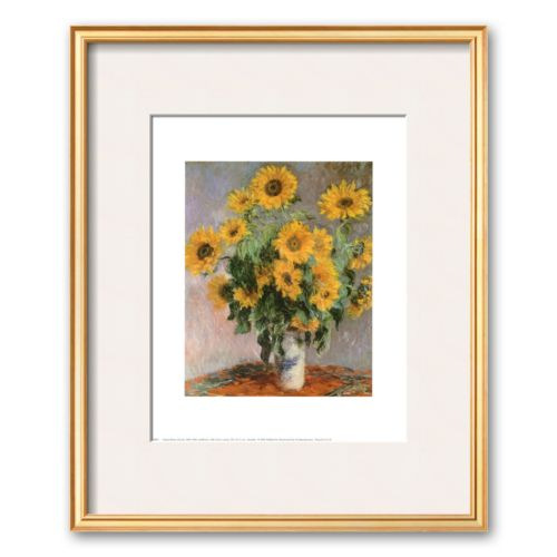 Art.com Sunflowers, c.1881 Framed Art Print by Claude Monet