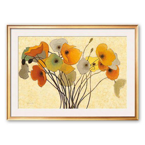 Art.com Pumpkin Poppies I Framed Art Print by Shirley Novak