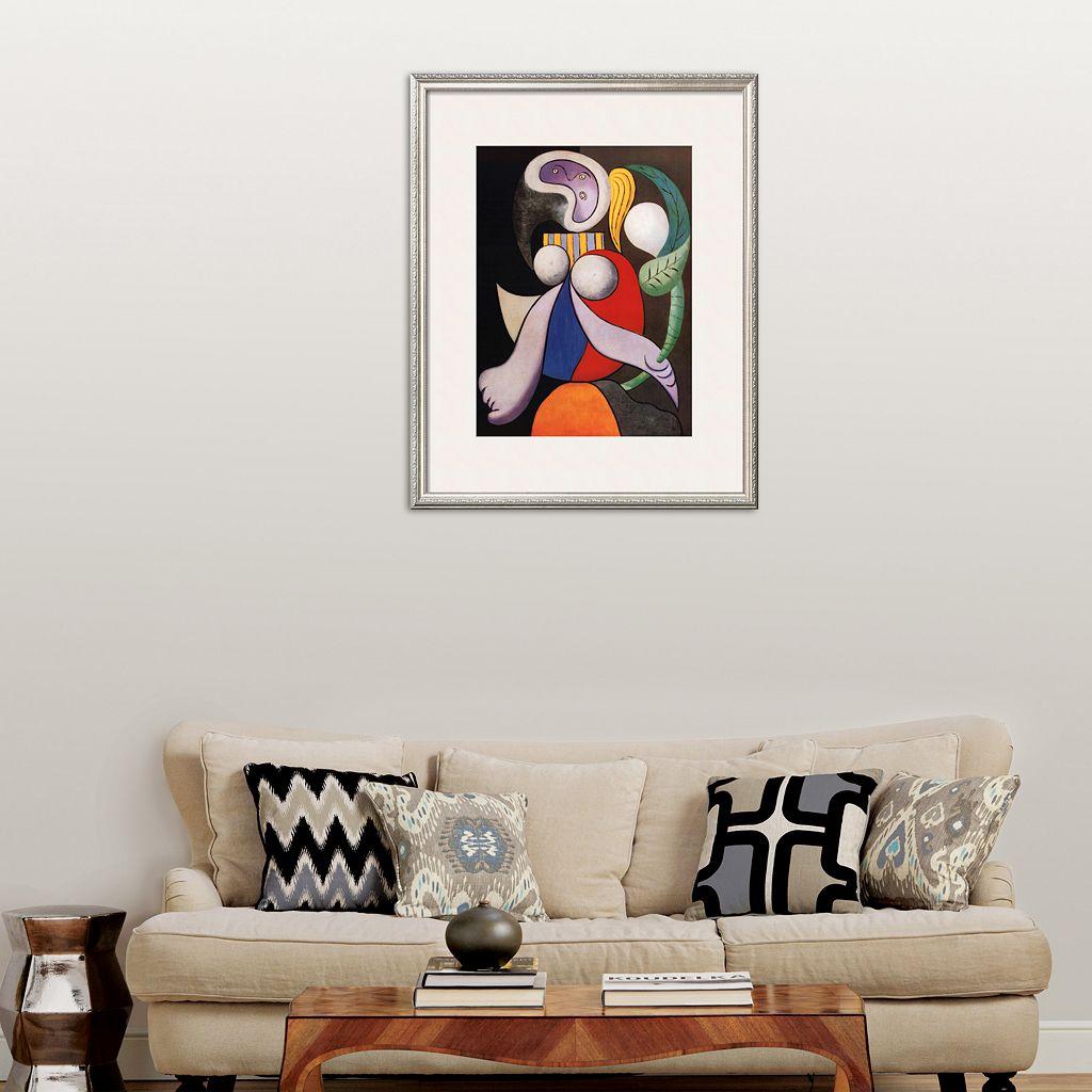 Art.com Femme a La Fleur, c.1932 Framed Art Print by Pablo Picasso