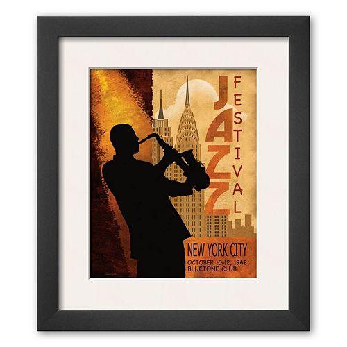 Art.com Jazz in New York, 1962 Framed Art Print By Water Gritsik