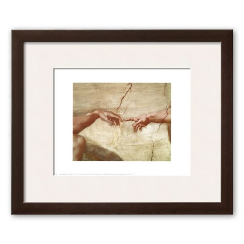 Art.com The Creation of Adam, c.1510 (detail) Framed Art Print by Michelangelo Buonarroti