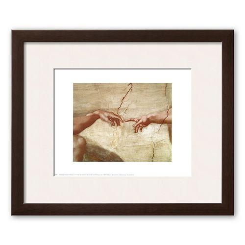 Art.com The Creation of Adam, c.1510 (detail) Framed Art Print by Michelangelo Buonarroti