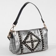Nicole Lee Joanne Metallic Geometric Convertible Shoulder Bag