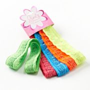 Fantasia 5-pk. Glittery Neon Head Wraps - Girls