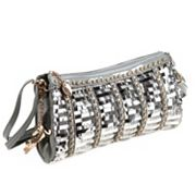 Nicole Lee Cherisse Studded and Sequin Barrel Bag