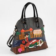 Nicole Lee Bega Vacation Patchwork Convertible Dome Tote