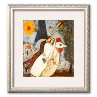 """Art.com """"Les Fiancees de la Tour Eiffel"""" Matted Art Print by Marc Chagall"""