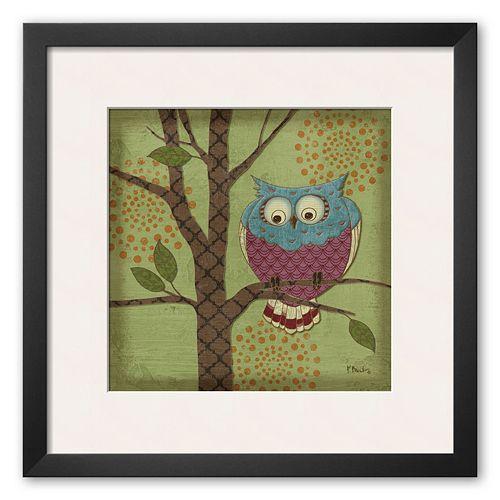 Art.com Fantasy Owls III Framed Art Print by Paul Brent