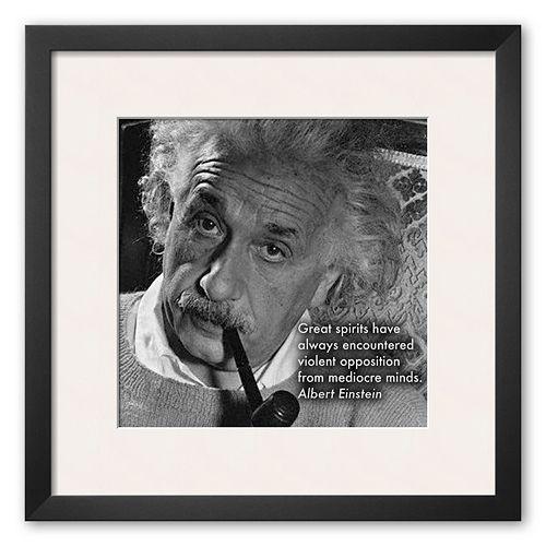 """Art.com """"Albert Einstein"""" Framed Art Print"""