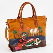 Nicole Lee Bega Vacation Patchwork Convertible Tote