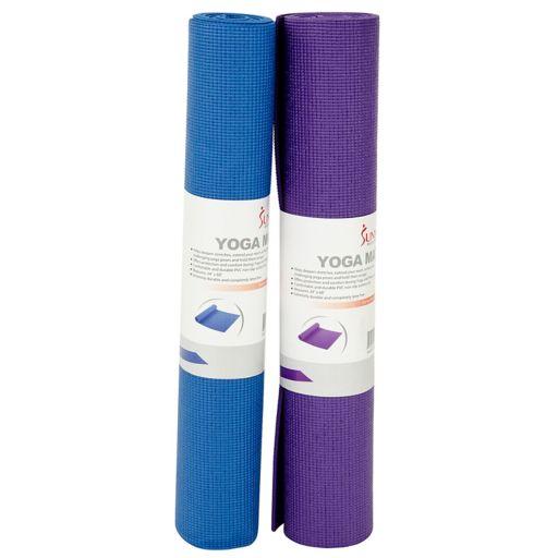 Sunny Health & Fitness Blue Yoga Mat (No. 031-B)