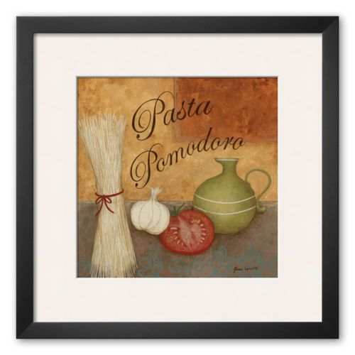 Art.com Pasta Pomodor Framed Art Print by Jane Carroll
