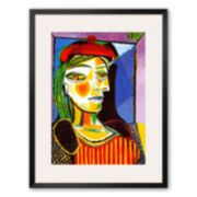 """Art.com """"Girl with Red Beret"""" Framed Art Print by Pablo Picasso"""