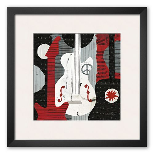 Art.com Rock 'n Roll Guitars Framed Art Print by Michael Mullan