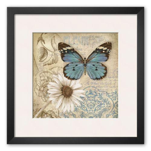 Art.com Butterfly Garden II Framed Art Print by Conrad Knutsen