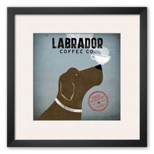Art.com Labrador Coffee Co. Framed Art Print by Ryan Fowler