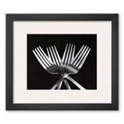Art.com Forks Framed Art Print by Mike Feeley